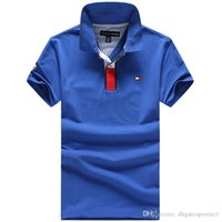 Wholesale Men S Brand Golf Polo - Wholesale international brand 2016 men's brand Polo shirt Polos men's short sleeve casual shirt polo suit golf classic style free shipping