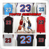 Wholesale children s birthday - YOUTH KID Children Stitched Swingman Christmas Birthday Gift Michael Tune Squad 23 shirt Throwback jerseys Sport Space Basketball Jerseys