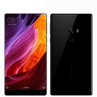 xiaomi phone achat en gros de-6 Go 256 Go Xiaomi Mi Mix Edgeless Display 6.4 pouces 2040 * 1080 FHD 64 bits Quad Core Qualcomm Snapdragon 821 Android 6.0 16MP Appareil photo Téléphone intelligent