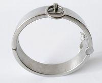 colar de aço pescoço bdsm venda por atacado-Luxo Aço Inoxidável BDSM Escravo Heavy Duty Coleiras Bondage Metal Restraint Feminino Masculino Anel Pescoço SM Brinquedos Sexuais para Casais