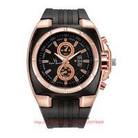 ingrosso orologio da polso design-Ultimo orologio di design all'ingrosso orologio in oro rosa in lega nera orologio in silicone orologio da polso digitale quadrante militare per gli uomini