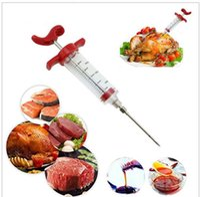 Wholesale Flavor Injector - BBQ Meat Syringe Marinade Injector Turkey Chicken Flavor Syringe Kitchen Cooking Syinge Accessories Turkey Chicken Grill Cooking KKA1859