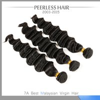 Wholesale Top Wholesale Malaysia - Wholesale-7A Malaysia Loose Wave Virgin Hair 3Pcs Pot1B Natural Black Top Quality Human Hair Extension Weave 12 To 28