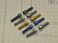 Wholesale Wholesale Road Titanium - M5X18 Titanium colorful Allen Hex Tapered MTB Bicycle Ti Bolt Screw