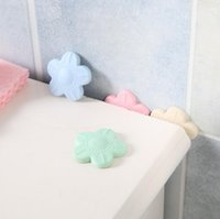 Wholesale Soft Pads Handle - cute floral shaped soft thicken mute door fenders wall fender handle door lock protective pads wall stickers free shipping