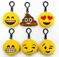 Wholesale keychains good quality for sale - Group buy 500pcs Good Quality CM Emoji Keychains Soft Stuffed Plush Keyrings for Promotional Gifts