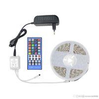 bande flexible menée imperméable ip68 achat en gros de-IP20 / IP65 Etanche RGBW RGBWW SMD 5050 5M LED Bande lumineuse DC12V Bande / Contrôleur de télécommande 40key / Adaptateur secteur 3A
