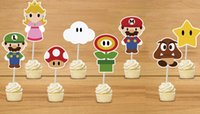 Wholesale Wholesale Mario Bros Birthday - Wholesale-Mario Bros Cupcake Toppers Mario Bros Birthday Party Decorations Party Supplies Birthday Party Decorations Kids