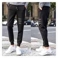 Wholesale Korean Pants For Men - Joggers Pants for Men Autumn Pants Fashion Korean Style Mens Casual Black Haren Pants US Size:XS-3XL