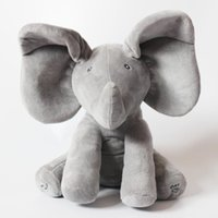 Wholesale Toys For Baby Musical - Wholesale- Peek A Boo Elephant Stuffed Animated & Plush Elephant Doll, Plush Toy & Musical Baby Doll For Baby Gift Or Christmas Gifts