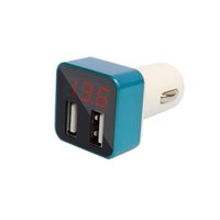 spannung lcd anzeigen dc großhandel-Autobatterie Tester Spannung Display Auto Ladegerät High-End DC VLT Spannung Tester Dual USB Auto Ladeadapter Handy Ladegerät Erkennung