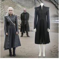 Wholesale Custom Cosplay Outfits - Daenerys Targaryen Costume Season 7 Game of Thrones Cosplay Costume HBO Khaleesi Queen of Meereen Dragon Queen Outfit