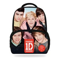 Wholesale Kid 1d - 14Inch Popular Print Bag For Children Teenagers 1D One Direction Backpack For Kids Girls Boys