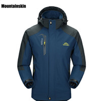 Wholesale Hiking Jackets For Men - 2017 New Spring Autumn Mens Softshell Hiking Jackets Male Outdoor Camping Trekking Climbing Coat For Waterproof Windproof VA002