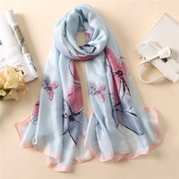 Wholesale Natural Scarves Silk - Pure Silk Chiffon Scarf Women Long Designer Scarve and Shawls Fashion Luxury Brand 100 Turkish Natural Foulard Scarf