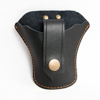 Wholesale Slingshots Pouch - Hunting Slingshot Holster Cow Leather Sling Shot Bags Outdoor Archery Sling Shot Pouch With Strap Black Bottom Open