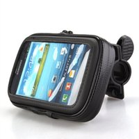 Wholesale S3 Holder Bicycle - Wholesale-Bicycle Motor Bike Motorcycle Handle Bar Holder Waterproof Case Bag with Mount Holder for Sumsung i9300 S3 EVA Foam pad