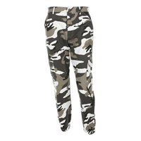 Wholesale Women Camo Pants Skinny - Women Camouflage Pants Casual Pink Camo Sweatpant Fashion Harem Autumn Winter Jeans High Waist Loose Ladies Trousers