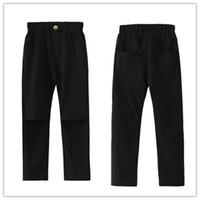 Wholesale Korean Casual Wear Girls - Children Pants Kids Long Cotton Pants Girls Casual Trousers Korean Version Fashion Street Wear Black And White