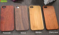 Forme de bois PC Phone Case pour Iphone 7 Apple 5 6 6s plus Imperméable en bois Bamboo Cell Phone Couverture Hard Shell pour Samsung galaxie