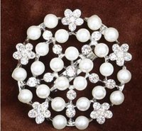 Wholesale Scarf Handbag Wholesaler - Pearl diamond brooches bouqu High grade set auger ShanZuan brooch pin fashion clothing,Suitable for handbags clothing accessories hat scarf
