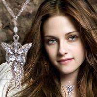 arhens evenstar ring großhandel-Herr der Ringe Halskette der Hobbit Arwen Evenstar Elfen Halskette Herr der Ringe Abendstern Halskette Silber