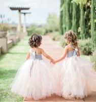 Wholesale Full Tulle Wedding Skirt - Wedding Cheap Tutu Kids Skirts Formal Skirts Full Lace Underskirts Tulle Flower Girl Skirts Custom Made