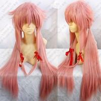 Wholesale Yuno Gasai Cosplay Wig - Japan Anime Future Diary Mirai Nikki Gasai Yuno Cosplay Cos Pink Party Wig