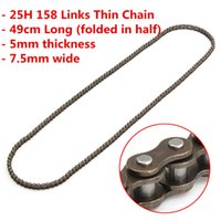 Wholesale 47cc Quad - 25H 158Links Chain For 47cc 49cc Pocket Rocket Bike Mini Quad ATV Scooter