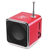 mini caixa som usb toptan satış-10-40 adet TDV26 mini Metal çelik aktif subwoofer araba alüminyum alaşımlı hoparlör TF Radyo FM USB boombox caixa de som Hoparlör yüksek kalite