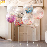 Wholesale Latex Flowers Balloon - Round Latex Party Balloons Simulation Flower Flame Retardant Paper Confetti Balloon Decor Wedding Party Decoration Mixed Color Wholesale