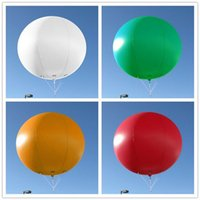 Air-ads 6.5ft 2m gonflable publicitaire Ballon rond / Flying Giant Promotion Helium Airplane Balloon for Party Event Celebration / Free Logo