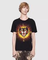 Wholesale Leopard Print Tshirts - Luxury Fashion Italian NEW Cotton T-shirts Leopard Print Men Short Sleeve Herren LOVE Summer male Tops Tees Casual Tshirts M-3XL
