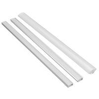 barra de luz en forma de v al por mayor-Sostenedor del canal de aluminio de la forma de U / YW / V los 50CM para la luz de tira del LED Llevó la lámpara ligera de la barra con la hebilla de la cubierta