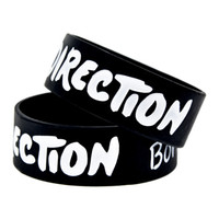 Wholesale One Direction Wristbands Black - 1PC One Direction Born to Love Silicone Wristband for Music Fans, A Great Way To Show Your Support