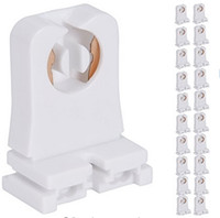 Wholesale Tombstone Wholesalers - Non-shunted T8 Lamp Holder Socket Tombstone for LED Fluorescent Tube Replacements Turn-type Lampholder Medium Bi-pin Socket for Programmed S