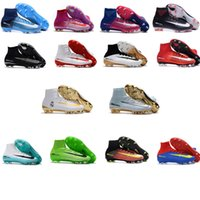 Wholesale Top Selling Mens Boots - Hot Selling Mercurial Superfly V FG Soccer Shoes Top Quality Sport Original Hypervenom Soccer Cleats Magista Mens Soccer Boots