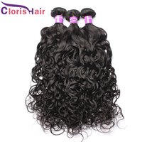 Wholesale Sewing Human Hair Extension - Brazilian Water Wave Hair Weave Bundles Wet And Wavy Brazillian Curly Hair 4pcs Sew In Human Hair Extensions For Black Women