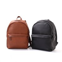 Wholesale Waxed Backpack - Simple Style Fashion Unisex Backpack The First Layer of Leather Oil Wax School Bag Summer Brand Vintage Backpack
