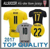 Wholesale Men Short Tshirt - 17 18 REUS jerseys PULISIC tshirt M.gotez DEMBELE Aubameyang Schürrle KAGAWA SAHIN maillot de foot camisa jersey