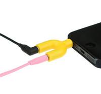 ingrosso splitter auricolari doppio-Hot Cell U Tipo Jack 3.5mm A Dual 3.5mm AUX Cable Headphone Seprator Maschio a Femmina Stereo Audio Splitter Adapter Adattatore