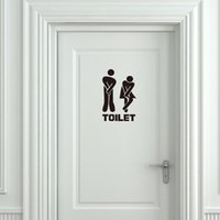Wholesale Funny Vinyl Wall Decals Quotes - New Style Free Ivolador Funny Toliet Bathroom Wall Sticker Decals Washroom Vinyl Wall Quotes Home Décor