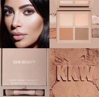 Wholesale New Light Beauty - In Stock! Kylie Cosmetics KKW Beauty Powder Contour & Highight Kit+ Brush 3 different kits set Light Medium Dark Free shipping New