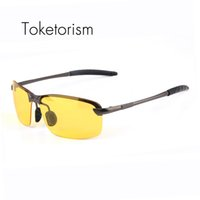 Wholesale Wholesale Night Sights - Wholesale- Toketorism driving at night Top quality polaroid sunglass for men women night vision sun glasses Y3043