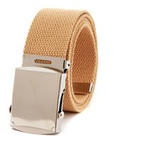 Wholesale Military Web - Military Army Canvas Web Belt 1. 5 Inch Korean Youth Leisure Canvas Belt for Unisex Woven Belt Army for Men