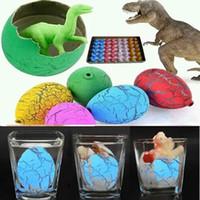 ingrosso uovo dino magico-60pcs Magic Hatching Dinosaur Aggiungi Water Growing Dino Eggs Gonfiabile Bambino Kid Toy