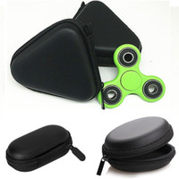Wholesale toy phone usb - Eva Square Round Fidget Spinner Toys Pouch Storage Bags Bluetooth Headset Phone Cable USB Bags Case Gifts Housekeeping Organization WX-W03