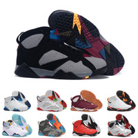 Wholesale Turquoise Grey - [With Box]Cheap JVII 7 Basketball Shoes RETRO 7 VII 7 WHITE TURQUOISE BLACK ICE BLUE Basketball Boots Men Athletics Wholesale Sports Shoes