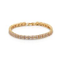 bracelet en diamant topaze achat en gros de-Bracelet en or jaune Tennis Diamant Brillant Strass Naturel Blanc Topaze Cubique Zircone Cadeaux De Mariage 7