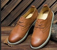Wholesale Women Vintage Oxford Shoes - wholesale drop shipping vintage leather handmade round toe flats shoes comfortable loafers lazy shoes lace up oxfords size35-40